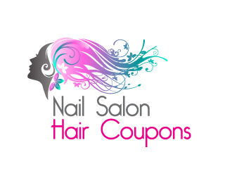 nail salon hair coupons logo design