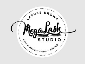 MegaLash Studio logo design by Siginjai