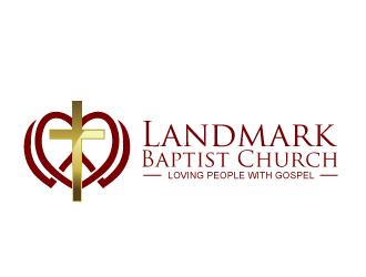 Landmark Baptist Church logo design by bezalel