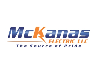 "McKanas Electric LLC - please make sure tag line is included in design ""The Source of Pride"" logo design"