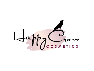 Happy Crow Cosmetics logo design