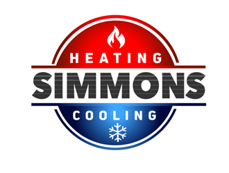Simmons Heating and Cooling logo design
