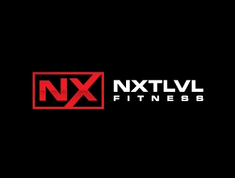 NXTLVL Fitness logo design concepts #9