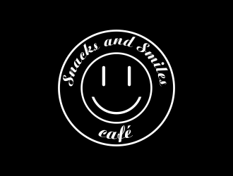 Snacks and Smiles Cafe logo design concepts #1