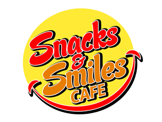 Snacks and Smiles Cafe logo design concepts #3