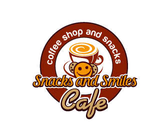Snacks and Smiles Cafe logo design concepts #4