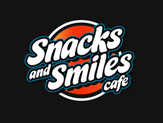Snacks and Smiles Cafe logo design concepts #5