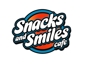 Snacks and Smiles Cafe logo design concepts #6
