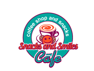 Snacks and Smiles Cafe logo design concepts #7
