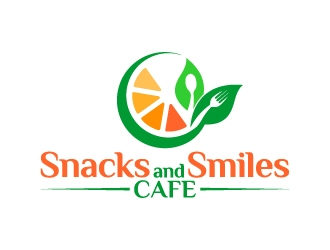 Snacks and Smiles Cafe logo design concepts #8