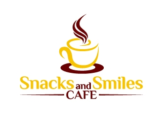Snacks and Smiles Cafe logo design concepts #9