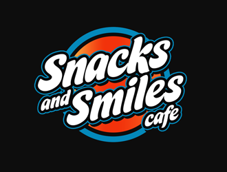 Snacks and Smiles Cafe logo design concepts #10