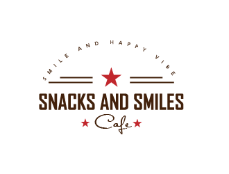Snacks and Smiles Cafe logo design concepts #11