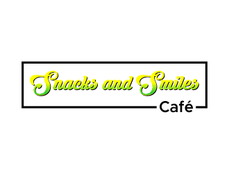 Snacks and Smiles Cafe logo design concepts #14