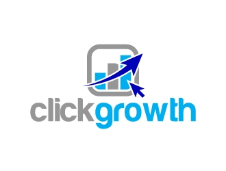 clickgrowth logo design concepts #1