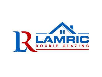 Lamric Double Glazing logo design