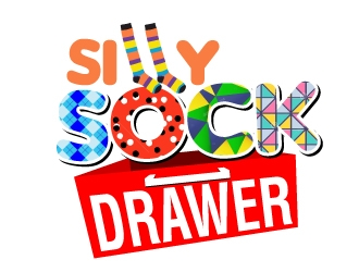 Silly Sock Drawer  logo design concepts #2