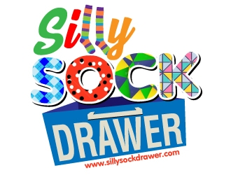 Silly Sock Drawer  logo design concepts #5