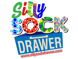 Silly Sock Drawer  logo design concepts #6