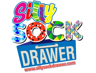 Silly Sock Drawer  logo design concepts #7