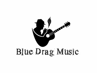 Blue Drag Music Limited logo design concepts #3