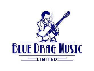 Blue Drag Music Limited logo design concepts #4