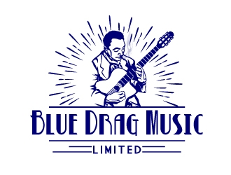 Blue Drag Music Limited logo design concepts #5