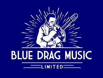 Blue Drag Music Limited logo design concepts #7