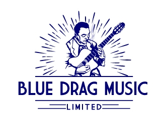 Blue Drag Music Limited logo design concepts #8