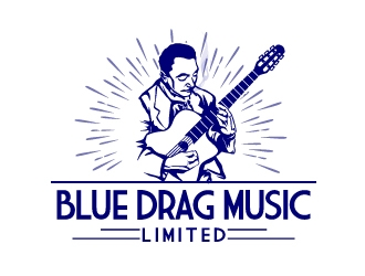 Blue Drag Music Limited logo design concepts #10