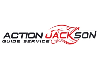 Action Jackson Guide Service logo design