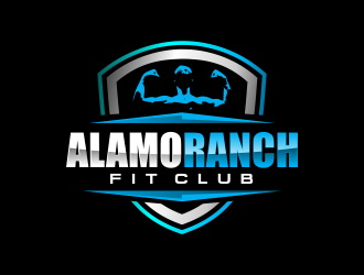 Alamo Ranch Fit Club logo design concepts #4