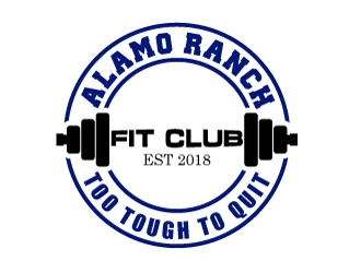 Alamo Ranch Fit Club logo design concepts #5