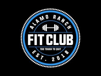 Alamo Ranch Fit Club logo design concepts #6