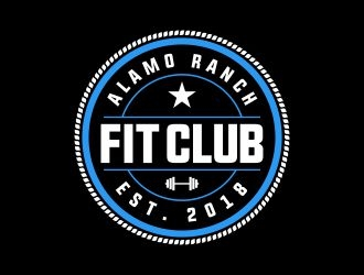 Alamo Ranch Fit Club logo design concepts #7