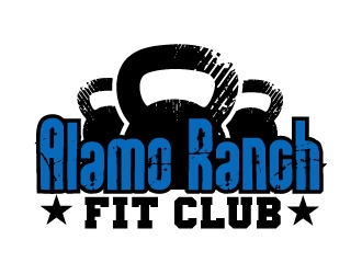 Alamo Ranch Fit Club logo design concepts #8