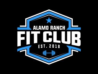 Alamo Ranch Fit Club logo design concepts #9