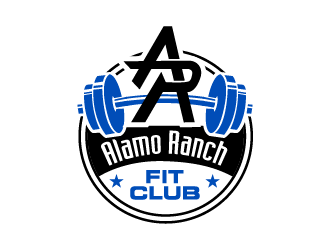 Alamo Ranch Fit Club logo design concepts #11