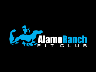 Alamo Ranch Fit Club logo design concepts #12