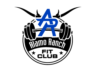Alamo Ranch Fit Club logo design concepts #15