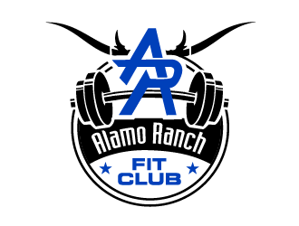 Alamo Ranch Fit Club logo design concepts #16