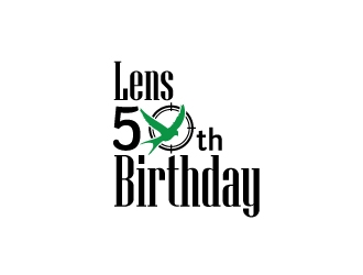 Lens 50th Birthday logo design concepts #4