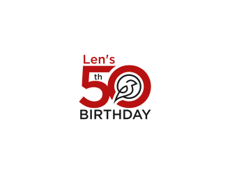Lens 50th Birthday logo design concepts #6