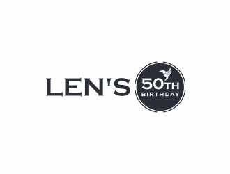 Lens 50th Birthday logo design concepts #8
