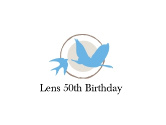 Lens 50th Birthday logo design concepts #9