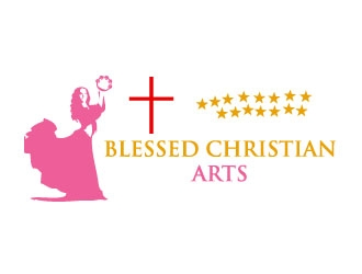 BLESSED CHRISTIAN ARTS logo design concepts #1