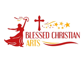BLESSED CHRISTIAN ARTS logo design