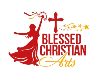 BLESSED CHRISTIAN ARTS logo design concepts #8