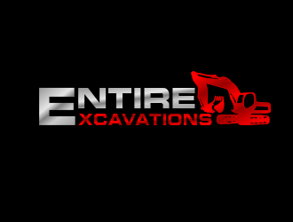 Entire Excavations  logo design