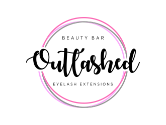 Outlashed Beauty Bar logo design concepts #3